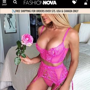 NWT Fashion Nova lingerie set